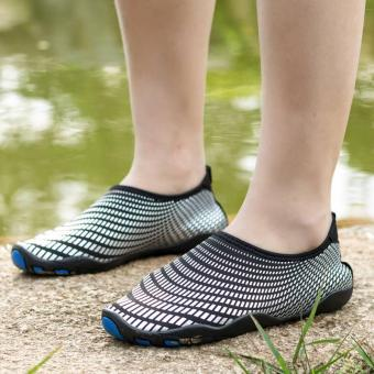 Men Women Swimming Yoga Beach Breath Shoes Sandals for SummerCasual Shoes (Black) - intl - 4