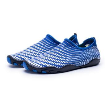 Men Women Swimming Yoga Beach Breath Shoes Sandals for SummerCasual Shoes (Blue) - intl