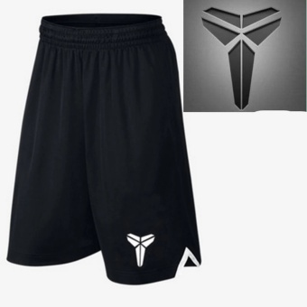 Men's Active Performance Basketball Black Shorts with Pocket (the Logo of Kobe) - intl Price Philippines
