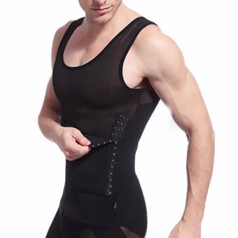 Men's Body Slimming Tummy Waist Belly Corsets Girdle Shapewear Underwear Shaper Black - 3