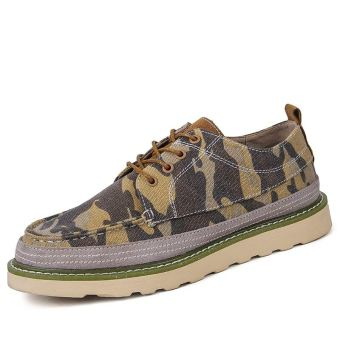 Online Men's camouflage breathable shoes tooling shoes (To help low camouflage yellow to help low) in Philippines
