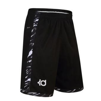Men's Casual Plus Size Loose Basketball Pants (Black)