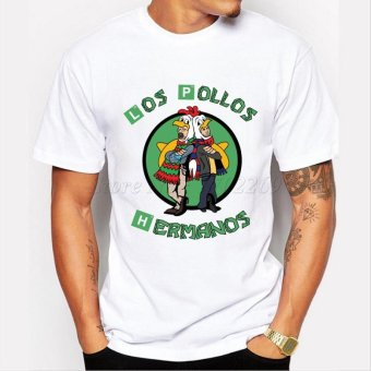 Men's Fashion Breaking Bad Shirt 2015 LOS POLLOS Hermanos T Shirt Chicken Brothers Short Sleeve Tee Hipster Hot Sale Tops - intl - 3
