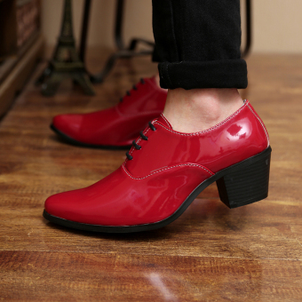Men's fashion high-heeled Formal shoes - 2