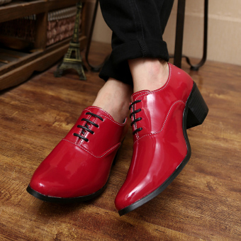Men's fashion high-heeled Formal shoes - 3
