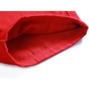 Men's Korean Style Casual Simple Plain Short (RED) - 4