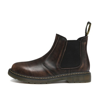 Men's Large Size High Cut Non-Slip Ankle Boot (Brown)
