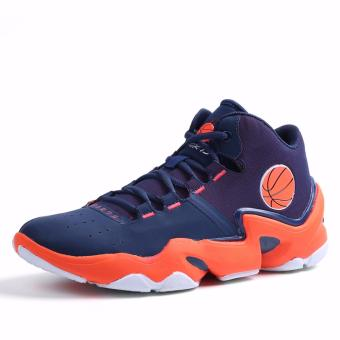 Men's Outdoors Sports Shoes Student Basketball Shoes for Mens Orange 8019 - intl - 4