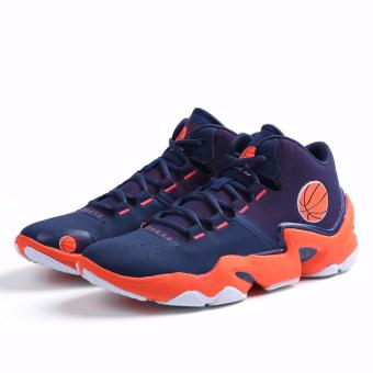 Men's Outdoors Sports Shoes Student Basketball Shoes for Mens Orange 8019 - intl - 5