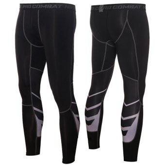 Men's Pants - Base Layer Leggings - Advanced Compression & Muscle Recovery for Running, Training & Athletics(Black) - intl
