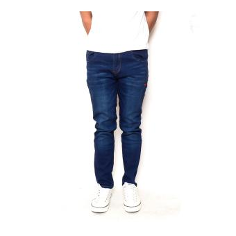 Men's Plain Saggy Pants Vintage Blue USA Style