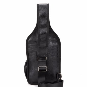 Men's PU Leather Vintage Chest Bag Fashion Crossbody Bag for Men Waterproof Sling Cross Body Bags Shoulder Bags Back Pack - intl - 2