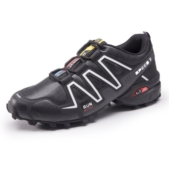 Men's Salomon Plus Size Outdoor Color Block Professional Cross-country Running Shoes(Black) - intl