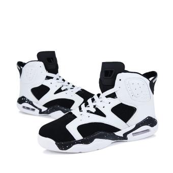Men's Sport Fashion Basketball Shoes (black&white)(Export) - 4