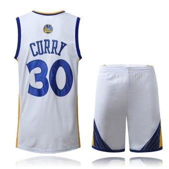 Men's #30 Stephen Curry Comfortable NBA Basketball Jersey Suits -intl - 2