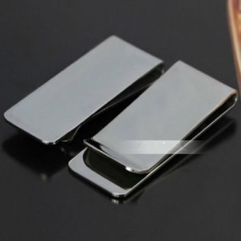 Men's Business Wallet Gift Titanium Steel Money Clip Credit CardHolder - intl