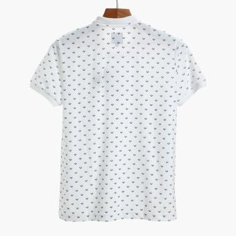 Men's Club Mens Tribal Pique Polo Shirt (White) - 2