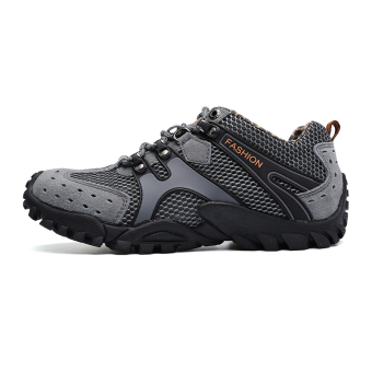 Mens Durable Hiking Shoes Mountain Climbling Shoes Super BreathableTrekking Shoes Outdoor Sports Shoes Grey - 2