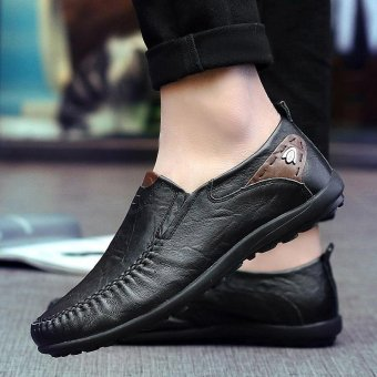 Men's fashion leisure British Genuine Leather shoes - intl Price Philippines