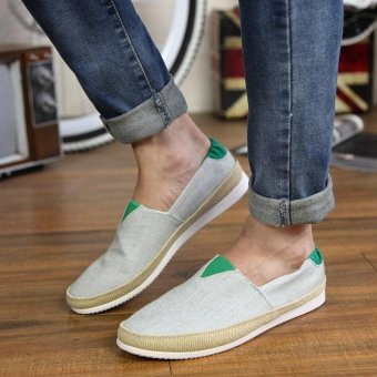 Men's Fashion On The Go Driving Shoes Canvas Shoes Daily CasualShoes Summer Shoes Slip-on Loafers Comfortable Walking Shoes - intl - 3
