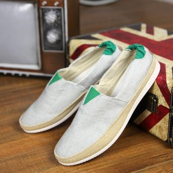 Men's Fashion On The Go Driving Shoes Canvas Shoes Daily CasualShoes Summer Shoes Slip-on Loafers Comfortable Walking Shoes - intl - 4