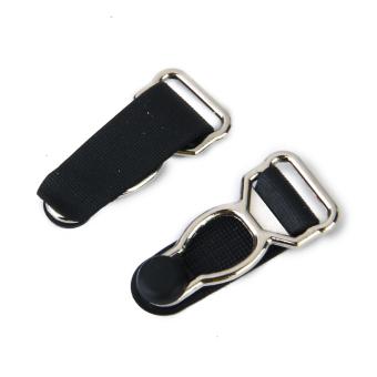 Men's Garter Belt Clips Hooks Grips 10pcs Black - picture 2