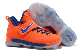 Men's Lebron 14 Basketball Shoes Orange / blue - intl - 3