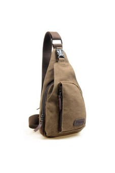 Men's Military Shoulder Bag Coffee