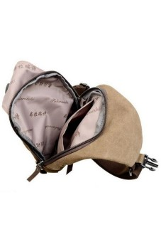 Men's Military Shoulder Bag Coffee - picture 2