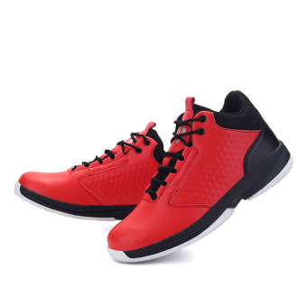 Men's Outdoors Sports Shoes Basketball Shoes for Mens (Red) - intl
