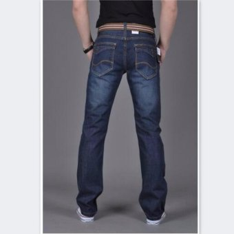 Mens Plus-size Cotton Denim Slim-fit Straight Long Jeans Trouser - intl - 4