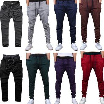 Mens Sweatpants Jogging Tracksuit Bottoms HIP HOP Jogger Sport Sweat Pants Gray - 3
