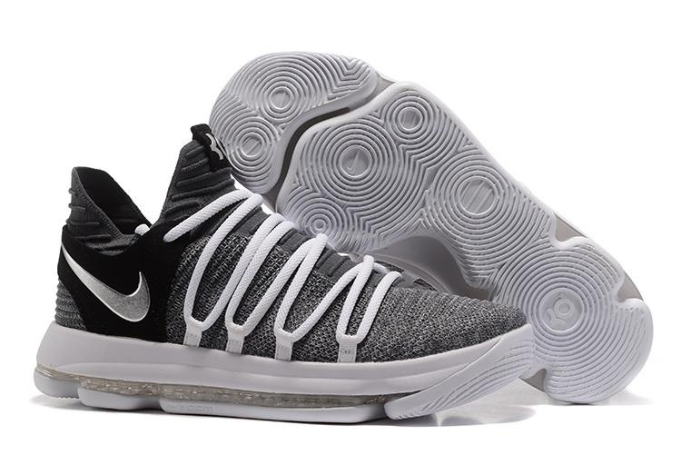 Men's Zoom KD10 EP Basketball Shoes White / gray / black - intl