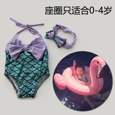 Mermaid S One Piece Swim Clothing Children Swimsuit Hair Bands