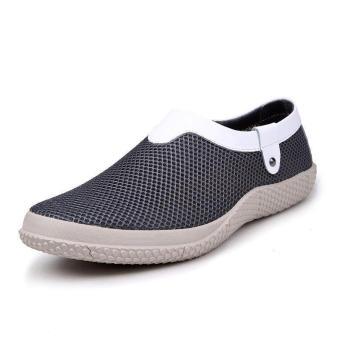 Mesh Mens Fashion Loafers - Grey