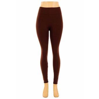Microfiber Thermal Fleece Winter Warm Fitness Legging Spring AutumnWinter Modal Leggings Women's Stretch Cotton Candy Color TrousersWomen Sexy Leggings (brown) - 2