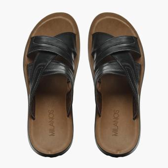 Milanos Mens Ever Sandals (Black) - 5