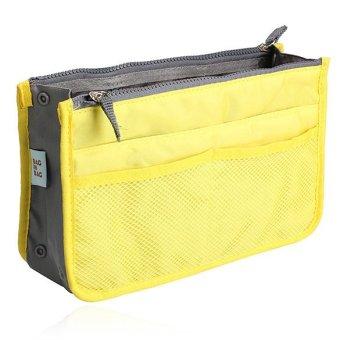 Mini Women Nylon Cosmetic Makeup Bags Organizer Storage Bag Pouch Holde( Yellow) - 2