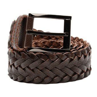 Mj By Mcjim Braided Leather Belt (Brown)