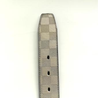MJ BY MCJIM Fashionable Leather Belt MJF-19868-40 Light Gray - 2