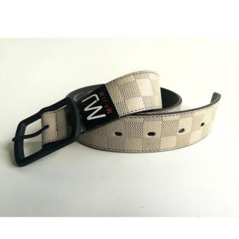 MJ BY MCJIM Fashionable Leather Belt MJF-19868-40 Light Gray - 5