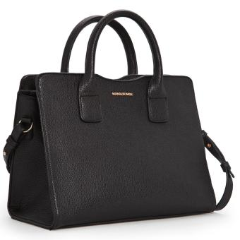MNG Mango Mini Pebbled Effect Tote Bag (Black) - 2