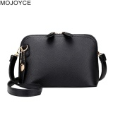 7eb966dd8201 MOJOYCE Women PU Leather Mini Simple Chic Messenger Bag(Black)