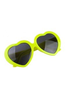 Moonar Retro Love Heart Shape Summer Sunglasses Yellow - picture 2