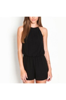 Moonar Women's Fashion Halter Backless Jumpsuit Clubwear (Black) - picture 2