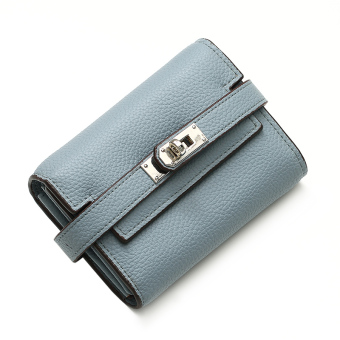 Mostyle indie women Japanese and Korean style student wallet (Female blue)