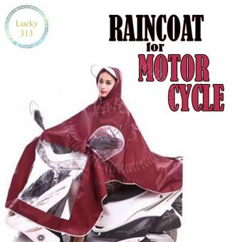 Motorcycle Raincoat Moto Rain Coat (Maroon) Price Philippines