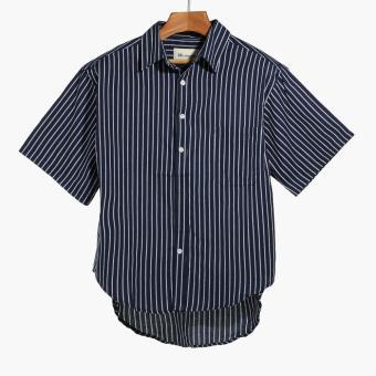 Mr. Smyth Mens Striped Casual Shirt (Blue)