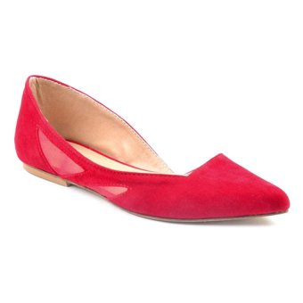 Ms. Finch Belle Top-to-Toe Flats (Red)