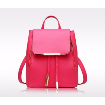 Ms han edition tide fashion backpack(rose)